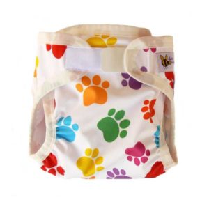 Baby BeeHinds PUL Nappy Cover - Pawprint Limited Edition