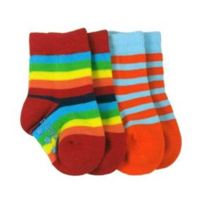 Babylegs Organic Cotton Socks 2 pack - Spectrum