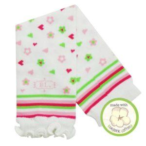 Babylegs Organic Legwarmer - Hearts & Flowers