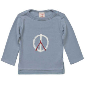 Baobab Dusty Blue Peace Tee