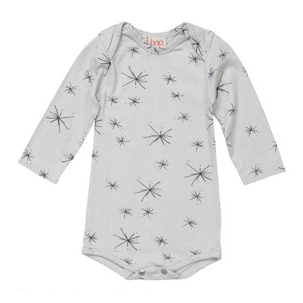 Baobab Grey Starburst Bodysuit
