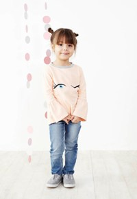 Baobab Washed Slim Fit Girls Jean-detail