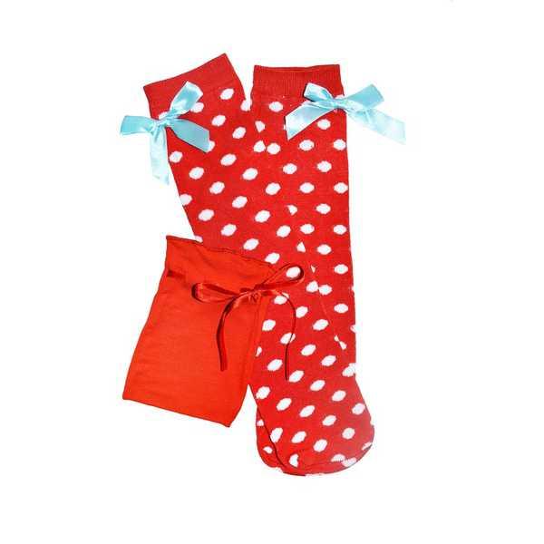 Bluebelle New York Knee High Socks - Red Spot
