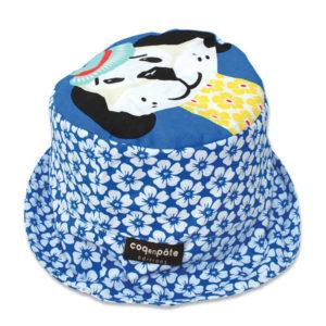 Coq en Pate Mibo Organic Sun Hat - Blue Dog