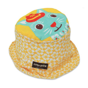 Coq en Pate Mibo Organic Sun Hat - Yellow Cat