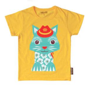 Coq en Pate Mibo Tshirt - Yellow Cat