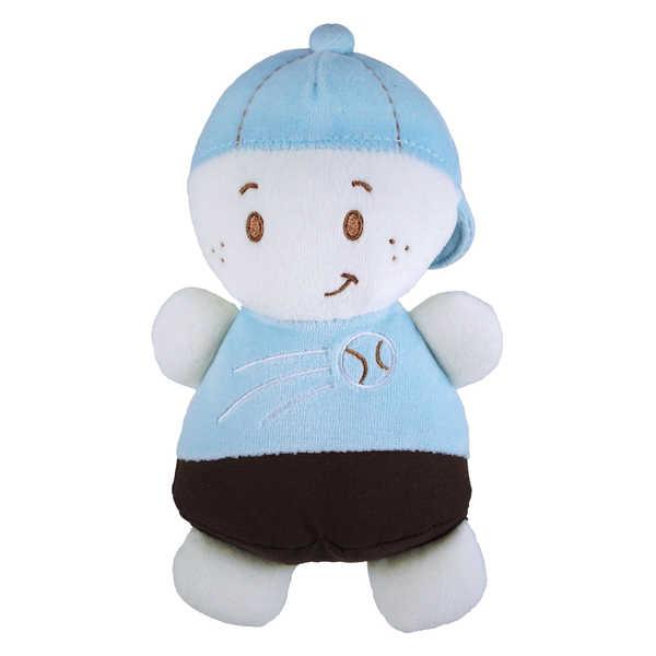 Dandelion Blue Baby Boy Rattle Doll