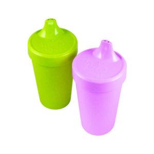 Dandelion Re-Play Spill Proof Cups 2 Pack - Purple Green