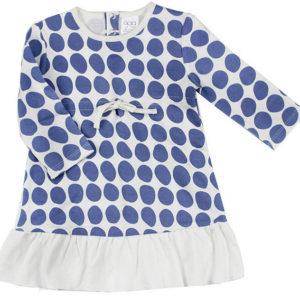 Gaia Girls Dress - Indigo Spot