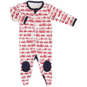 Gaia Organic Cotton Long All In One - Red Cars