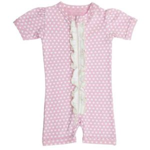 Gaia Organic Cotton Short All-In-One - Pink Hearts