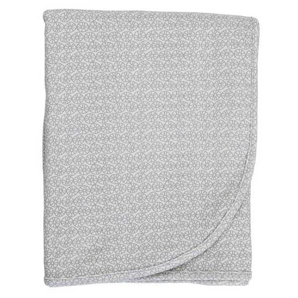Gaia Organic Cotton Wrap - Grey Citrus Wheel