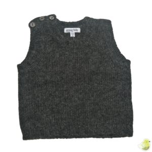 Gypsy Kids Lambswool Vest - Charcoal Grey