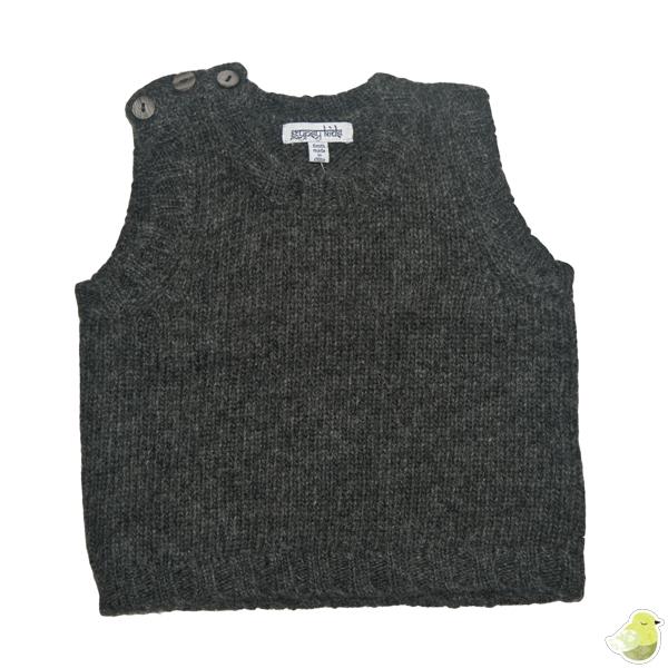 Gypsy Kids Lambswool Vest - Charcoal Grey