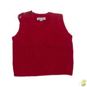 Gypsy Kids Lambswool Vest - Red