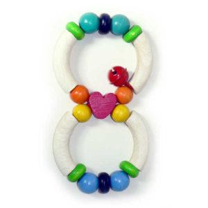 Hess-Spielzeug Rattle - Heart