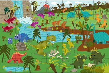 InnovativeKids Green Start Giant Floor Puzzle - Dinosaurs