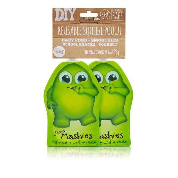 Little Mashies Reusable Pouch 130ml - Green