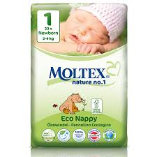 MOLTEX NEWBORN nappies (2-4kg)