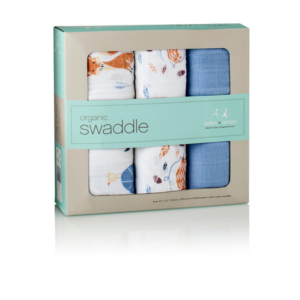 NEW Aden + Anais Organic Muslin Swaddle 3 Pack - Into the Woods