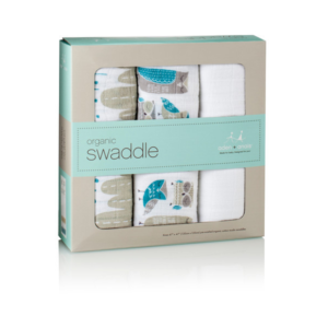 NEW Aden + Anais Organic Muslin Swaddle 3 Pack - Wise Guys