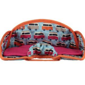 NEW Close Pop-In Car Seat Protector- Campervan Blue