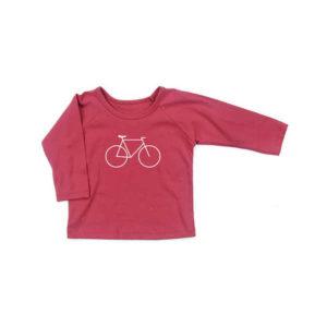 NEW Gaia Long Sleeve Tee - Red Bike