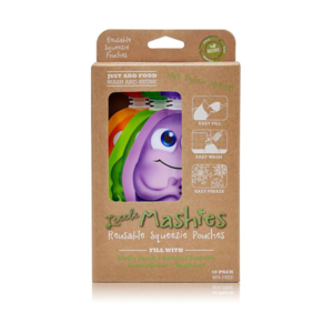 NEW Little Mashies Reusable Food Pouches -10 pack (mixed)