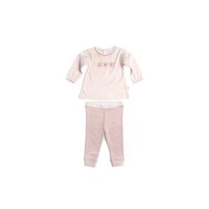 NEW Purebaby Girls PJ Set - Adelie Pink