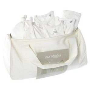 NEW Purebaby Hospital Pack Zip Bag - Grey Dandelion