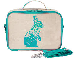 NEW So Young Insulated Lunch Box - Aqua Bunny