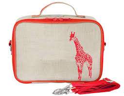 NEW So Young Insulated Lunch Box- Orange Giraffe