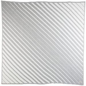 NEW Uimi Jules Organic Cotton Diagonal Stripe Blanket - Silver