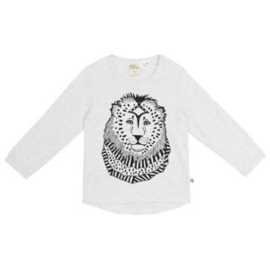 NEW milk & masuki Long Sleeve Tee - Grey Lion
