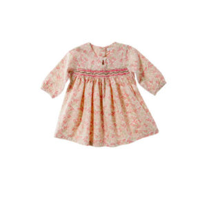 Purebaby Girls Woven Smocked Dress - Secret Garden Print