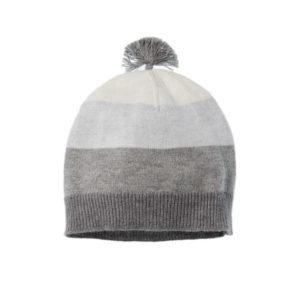 Purebaby Knitted Beanie - Grey Multi Stripe