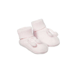 Purebaby Knitted Bootie - Powder Pink