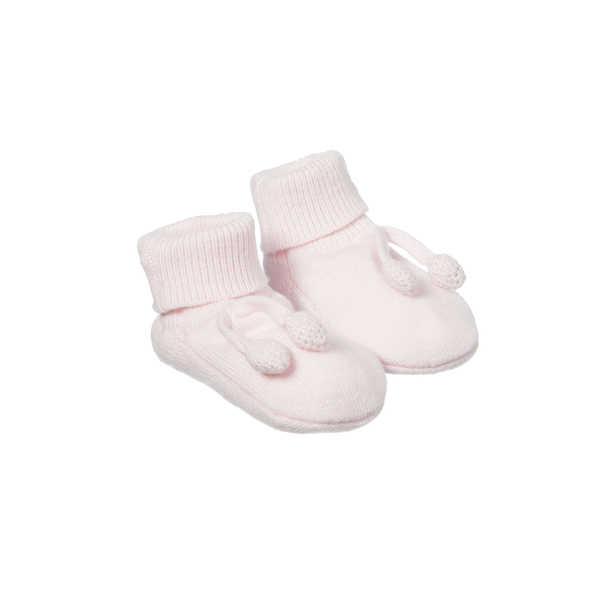 Purebaby Knitted Bootie - Powder Pink