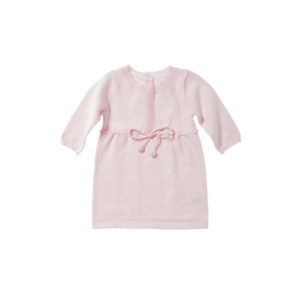 Purebaby Knitted Eyelet Dress - Powder Pink