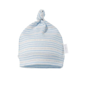 Purebaby Knot Hat - Blue Multi Stripe