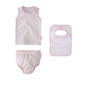 Purebaby Newborn 3 Piece Gift Set - Pale Pink