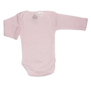 Purebaby Rib Bodysuit 2 Pack - Pale Pink