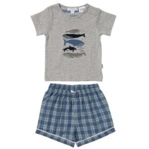 Purebaby Short PJ Set - Drift Stripe