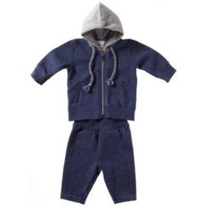 Purebaby Track Suit Set - Bluestone Melange