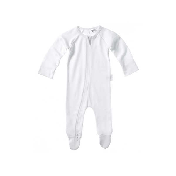 Purebaby Zip Growsuit - White