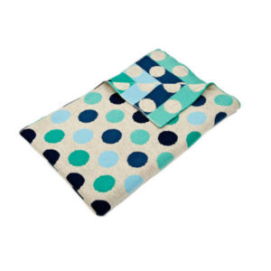 Uimi Dotty Merino Blanket - Bluebird
