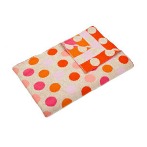 Uimi Dotty Merino Blanket - Bubblegum