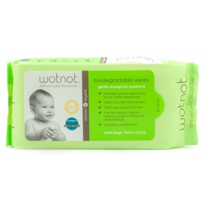 WOTNOT Biodegradable Baby Wipes- 80 pk