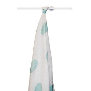 aden + anais organic cotton muslin wrap - sky blue