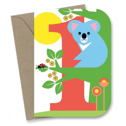 Earth greetings birthday card koala sustainababy enlarge m4hsunfo